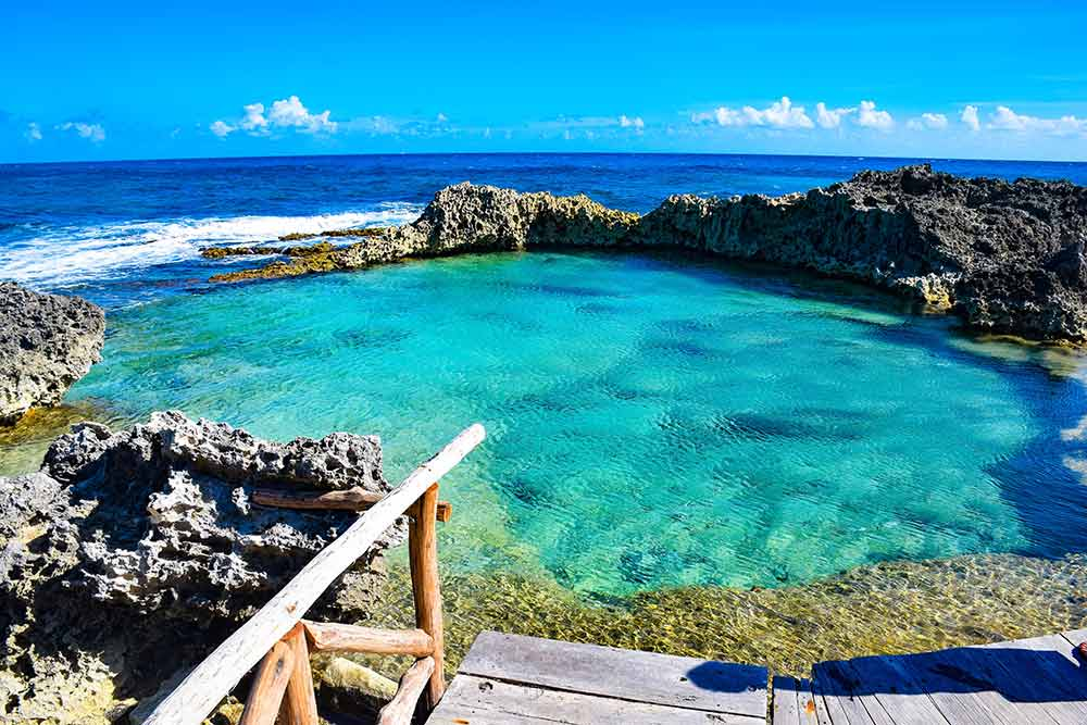Isla Mujeres in the Mexican Ocean