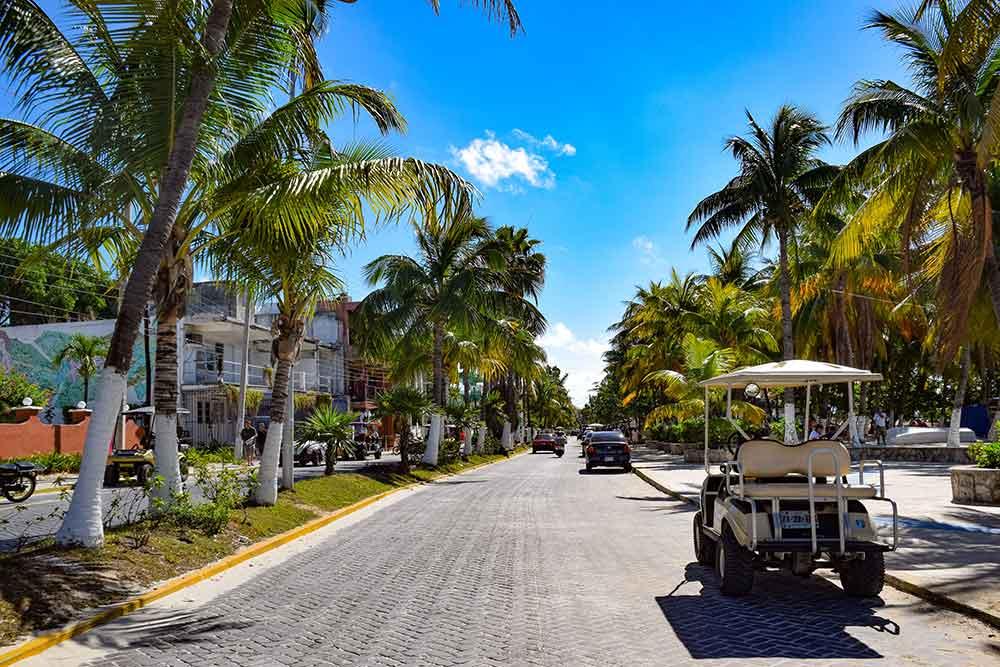 Golf cart to Isla Mujeres