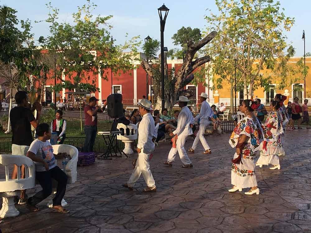 Dancers in Valladolid Mexico