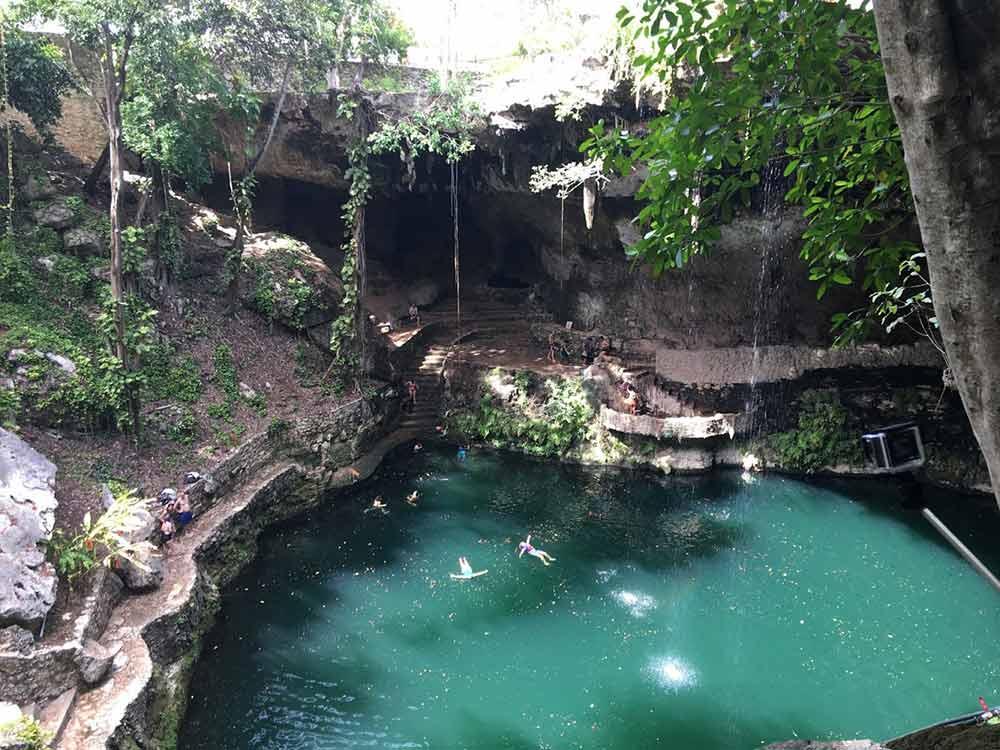 Cenote Zaci near Valladolid