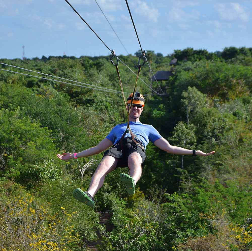 Ziplining route Playa del Carmen