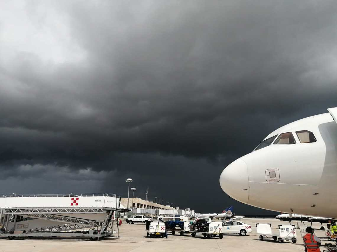 airport amidst the grace of the hurricane