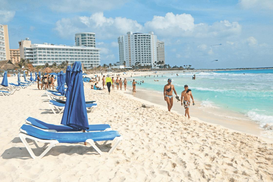 a beach in the hotel area of Cancun